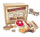 Roll Rodel Bausatz - Tuning Set für alle Holzschlitten / Rollen für Kinderschlitten / Räder für Schlitten aus Holz