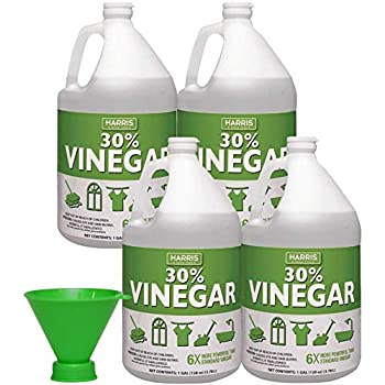 HARRIS 30% Pure Vinegar with Funnel 1 Gal Pack of 4