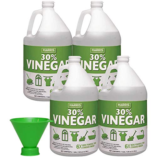 HARRIS 30% Pure Vinegar with Funnel, 1 Gal, Pack of 4