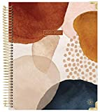 bloom daily planners 2021-2022 HARDCOVER Academic Year Goal & Vision Planner (July 2021 - July 2022) - Monthly/Weekly Agenda Calendar Organizer - 7.5' x 9' - Earthy Abstract
