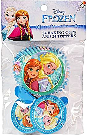 Disney Frozen Cupcake Baking Cups and Toppers (Set of 24),  Multi-Colored,  5