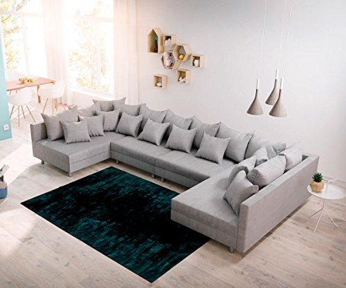 DELIFE Couch Clovis modular - Ecksofa, Sofa, Wohnlandschaft & Modulsofa (Grau, Sofa XL)