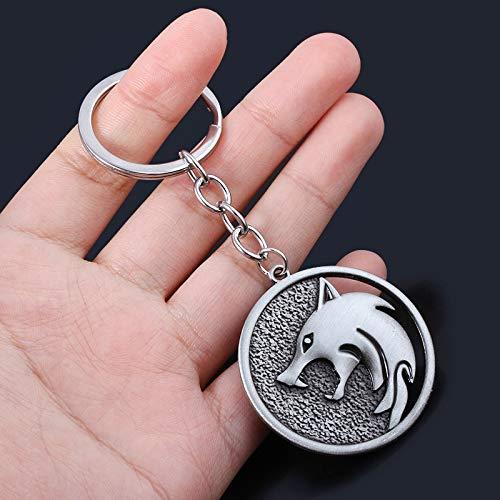 MINTUAN Llaveromago Llavero Cabeza De Lobo Collar Demonio Cazador Colgante Juego Memorial Accesorios Personaje Logo Colgante