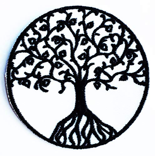 Yggdrasil Tree of Life in Norse Celtic Love Kids Cartoon Iron on Patch Embroidered Patch Supplies for Jacket Bags Jeans Backpack Clothes DIY