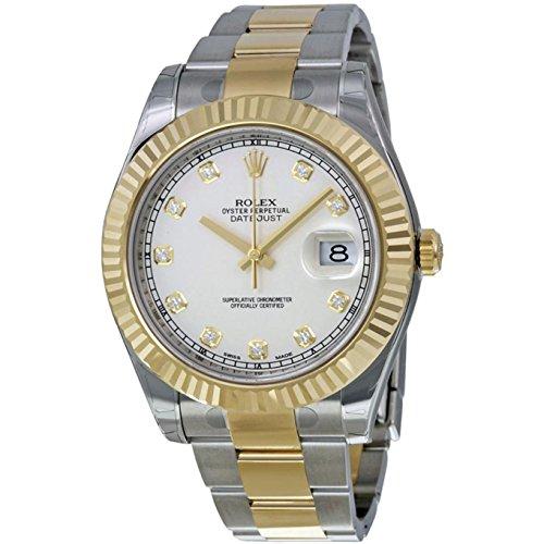 Rolex, orologio uomo 41mm, bicolore con cinturino in acciaio e cassa in...