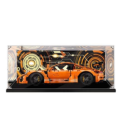ColiCor Vitrine Box Schaukasten Display Case für Lego 42056 Technic Porsche 911 GT3 RS,Staubdichte Display Box Kompatibel mit Lego 42056