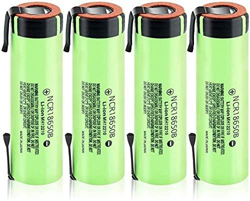 18650 3.7v 3400mAh Li-Ion NCR batería de Litio 4 Piezas