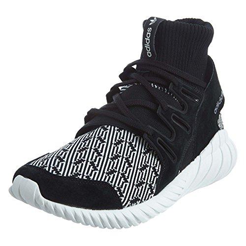 adidas Men's Tubular Doom Black/White Running Shoe 10
