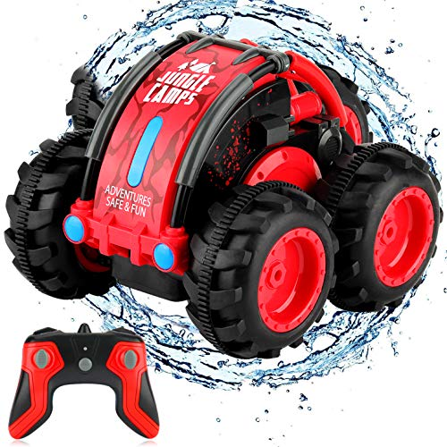 Tobeape Remote Control Car, 1/24 Scale Amphibious Vehicle for Kids 2.4GHz Off...