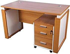 Mahmayi Zelda Contemporary Office Desk, 76.5 x 60.5 x 120cm, Light Walnut/White, ZHM191-12