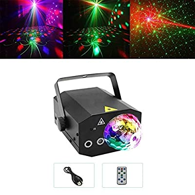 DWLXSH 10W Disco Ball Stage Lights Magic Ball Lamp,Party Lights+Disco Ball Dj Disco Lights LED Stage Light Projector Strobe Lights Sound Activated with Remote Contro Home Decoration