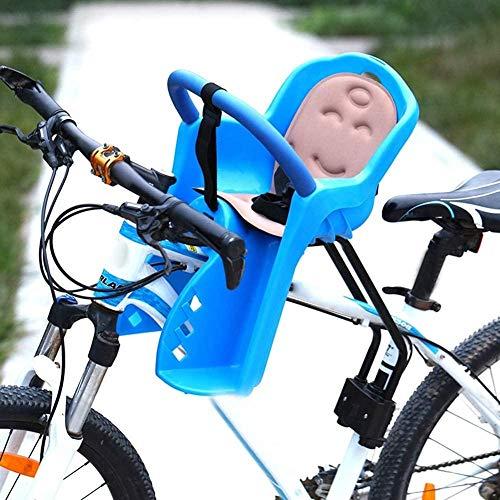 Asiento de bebé Delantero de Bicicleta de montaña Asiento de Seguridad Infantil Completamente Cerrado para vehículo eléctrico de Bicicleta-Azul_Los 50X33CM Fantastic