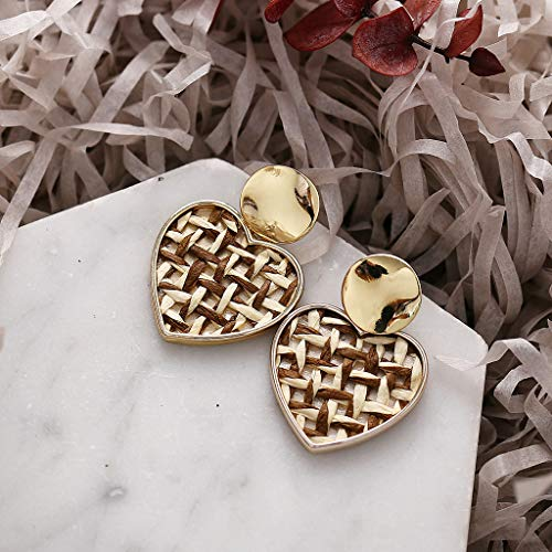 Earrings for Women Best Gifts Simple Metallic Gold Outer Ring Irregular Shape Love Acrylic Earrings Ladies Jewellery Sets for St.Patrick's Day in (Brown)