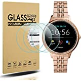 Suoman 3-Pack for New Fossil Women's Gen 5E 42mm Screen Protector, 2.5D 9H Hardness Tempered Glass Screen Protector for Fossil Women's Gen 5E 42mm Smartwatch