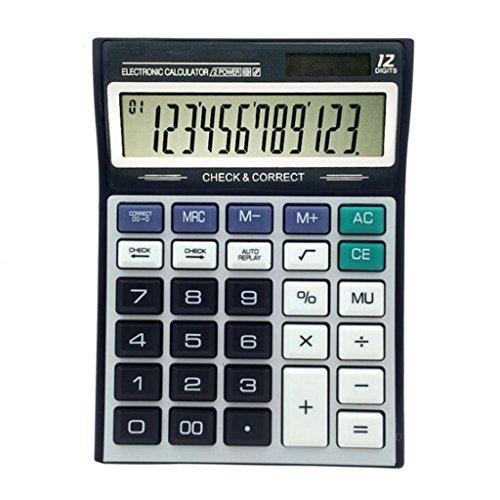 Taschenrechner, Desktop-Rechner, überprüfen und korrigieren Standard-Funktion Desktop-Rechner mit12-stelliger Digitalanzeige Office School Home Supplies
