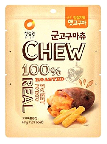 CJW Korean 100% Real Roasted Sweet Potato Snack 2.11 Oz - Chews (Pack of 3)