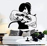 yaonuli Autocollant Mural en Vinyle Joueur Fille Jeu vidéo Autocollant Adolescent Chambre décoration de la Maison Sticker mural52X50 cm