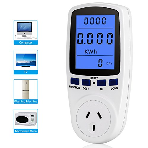 Electricity Usage Monitor,Power Meter Plug Home Energy Watt Volt Amps KWH Consumption Analyzer
