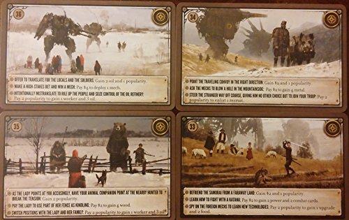 Stonemaier Games Scythe: Kickstarter Promo Encounter Cards #33-36