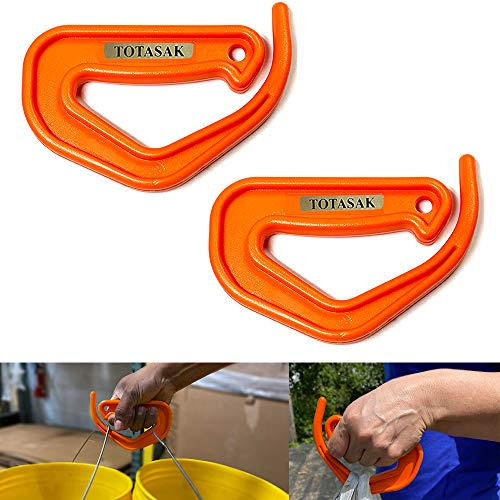 Totasak Grocery Bag Carrier 2Pack Orange  Multiple Shopping Bag Holder Handle  Durable Lightweight Multi Purpose Secondary Handle Tool