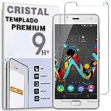 REY Protector de Pantalla para WIKO UFEEL/UFEEL Lite/U Feel, Cristal Vidrio Templado Premium