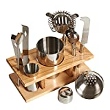 Fineway Cocktail-Maker Set, Eiswürfeleimer, 10-teiliges Set