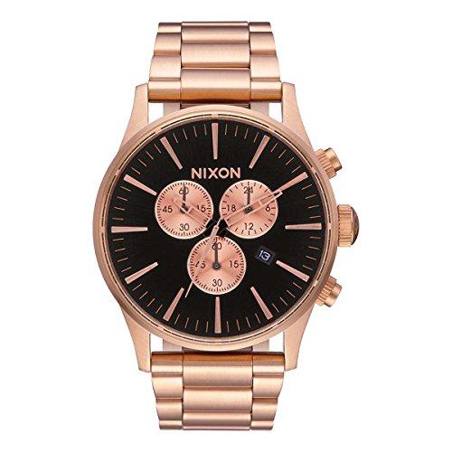 Nixon Reloj Cronógrafo para Hombre de Cuarzo con Correa en Acero Inoxidable A3861932-00