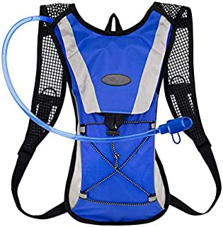 Hydration Backpack - Waterproof Breathable Camel Water Bag Pack for Trail Running 111111Biking Cycling and Hiking Blue