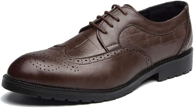 FuweiEncore 2018 Herrenmode Oxford Schuhe, Lässige Klassische Bequeme Low Top Top Top Individualität schnitzen Brogue Schuhe (Farbe   Braun, Größe   42 EU) (Farbe   Braun, Größe   46 EU)  809c7b