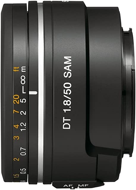 Sony SAL50F18 - Objetivo para Sony (Distancia Focal Fija 50mm Apertura f/1.8-22) Negro