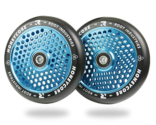 Root Industries honeycore Scooter Ruedas 120mm–Set de 2, Negro y Azul