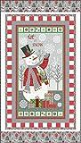 Let It Snow Schneemann-Stoff, 100 % Baumwolle