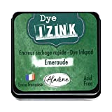 Aladine Izink Dye Verde – Tinta de Secado rápido para Sellos y Plantillas – Scrapbooking y Carteria Creativa – Tinta Francesa – Talla M – 5 x 5 cm – Color Verde Esmeralda