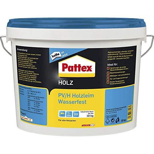 PATTEX 1487016 PV/H Wasserfest Holzleim D3 10 kg, Weiß