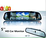 BW 2-in-1 12,7 cm 16:9 12,7 cm TFT LCD Display Digital Farbe Auto Rückspiegel Sicherheit Conitor für Kamera DVD PAL/NTSC Multi-Sprachen