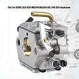 Junluck Kit de carburador, Juego de carburador, carburador de césped, para STIHL 024 026 para Motosierra MS240 MS260 MS 240 260