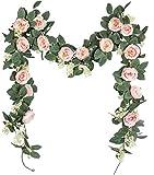U'Artlines lot de 2 Guirlande de Rose Thé Artificielles avec Feuille de...