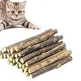 JIASHA Bastoncini Erba gatta,30 Pezzi Bastoncini di Erba gatta biologici Naturali per Gatti, per la Cura Dentale aiutano Giocando ad eliminare alitosi e tartaro