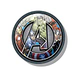 takestop® cuscino tondo avengers cartone animato marvel hulk capitan america thor iron man soffice grigio caldo inverno casa decorazione stanza stanzetta bambini bimbi idea regalo