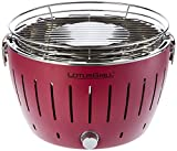 LotusGrill G-RO-34 - Barbacoa de carbón sin humo 35 x 26 x 23.4 , color rojo