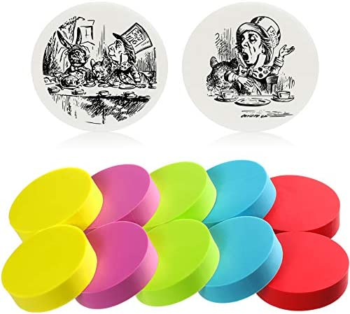 12 Pieces 1 5 Inch Round Rubber Carving Blocks Colorful Stamp Soft Rubber Crafts Block for Beginners product image
