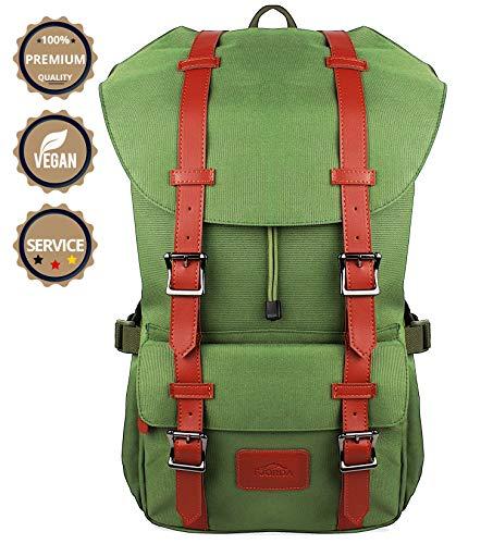 Fjorda Rucksack Fidelio - Als Handgepäck, für die Schule oder Uni, mit Laptop-Fach bis 17 Zoll - Viel Platz durch 23L Volumen - Für Damen und Herren (Olivgrün)