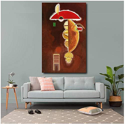 Pittura a Olio su Tela di Grandi Dimensioni HD per Soggiorno Decorazioni per la casa Immagini murali di Wassily Kandinsky Opere d'Arte 40x60 cm (15,7x23,6 Pollici) Senza Cornice