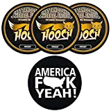 Hooch Herbal Snuff Whiskey Fine Cut 3 Cans with DC Crafts Nation Skin Can Cover - America