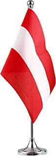 Sponsored Ad - NoLogo Austria Austrian Stand Base Flag Table Desk Flag,Metal Stand and Base and Country Flag Banners,for ...