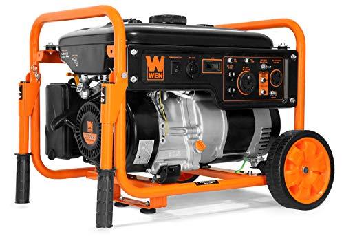 WEN 56500 5000-Watt RV-Ready 120V/240V Portable Generator with Wheel Kit, Black Generators