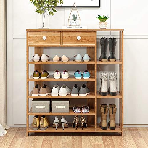 KDOAE Estante de Zapatos Madera Zapatero 5 Nivel de Zapatos Gabinete de Almacenamiento de Hogares Zapatero con cajón Ahorro de Espacio (Color : Brown, Size : One Size)
