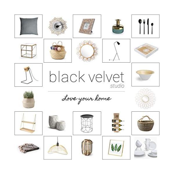Black Velvet Studio Jarrón Vidrio Decorativo Color Marrón Cristal – Florero Moderno Vintage para Hogar Oficina Sala Mesa…