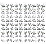 Outflower - 100 Stück Perlen-Nieten, zum Festklammern an Schuhen und Kleidung, Paket mit...