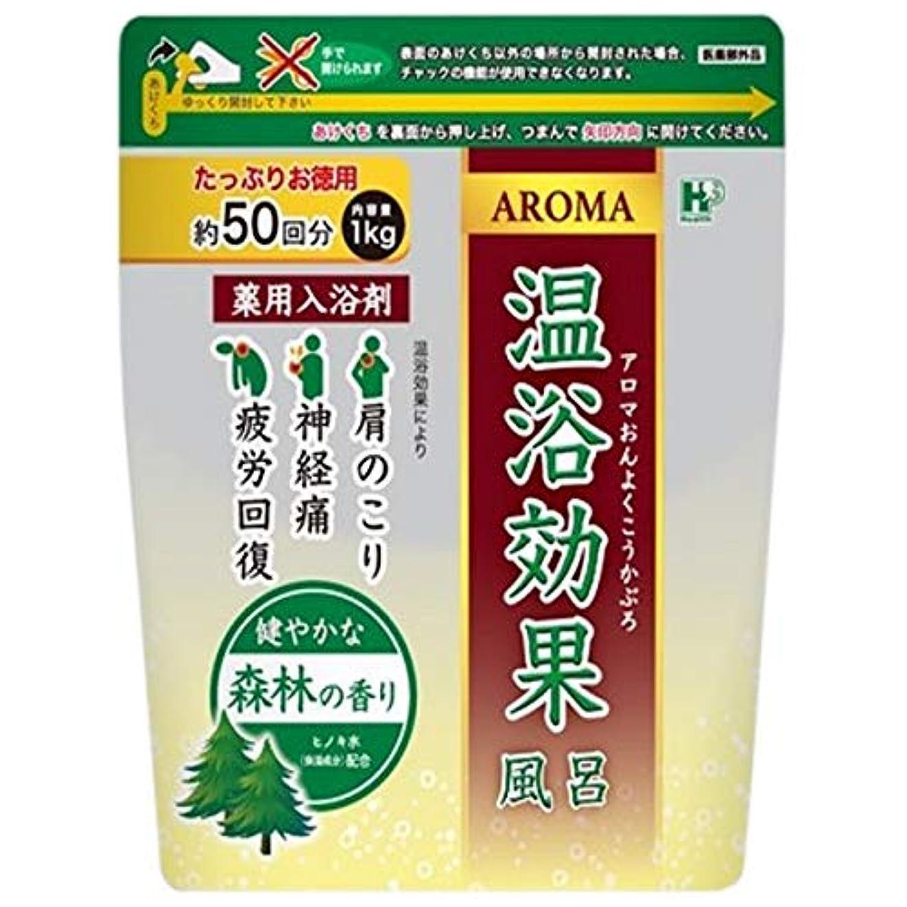 大きさフラグラントマグ薬用入浴剤 アロマ温浴効果風呂 森林 1kg×10袋入